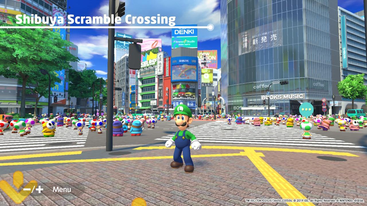 Mario & Sonic at the Olympic Games Tokyo 2020 skrzyżowanie w tokio