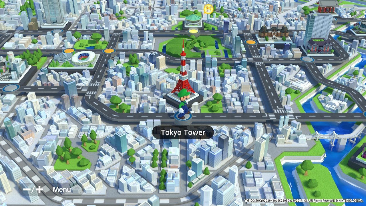 Mario & Sonic at the Olympic Games Tokyo 2020 mapa tokio