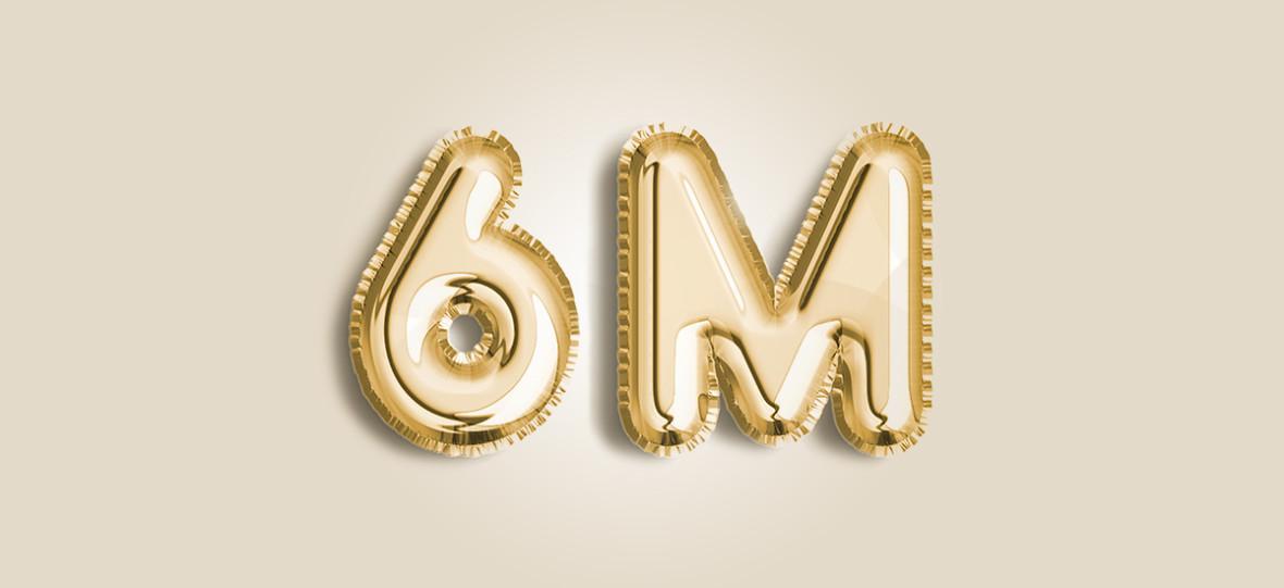 6 milionów użytkowników w ostatnich 30 dniach na Spider's Web!