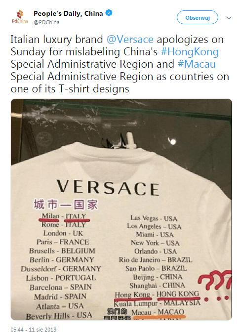 Sklepy odzieżowe Chiny