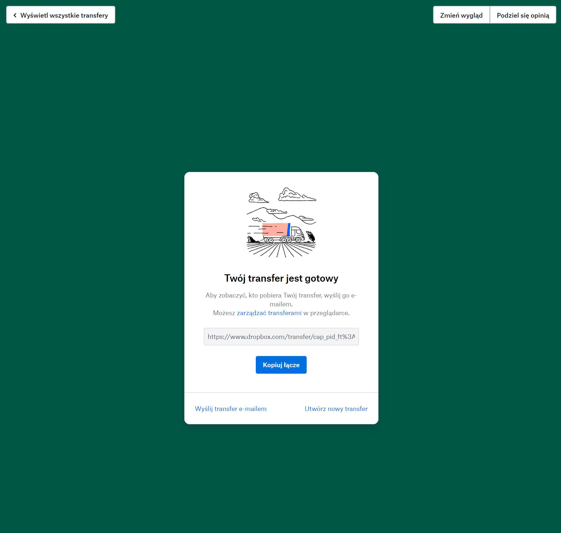 Jak przesyłać duże pliki - Dropbox Transfer