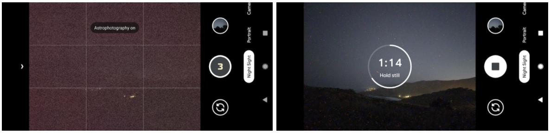 google pixel 4 astrofotografia