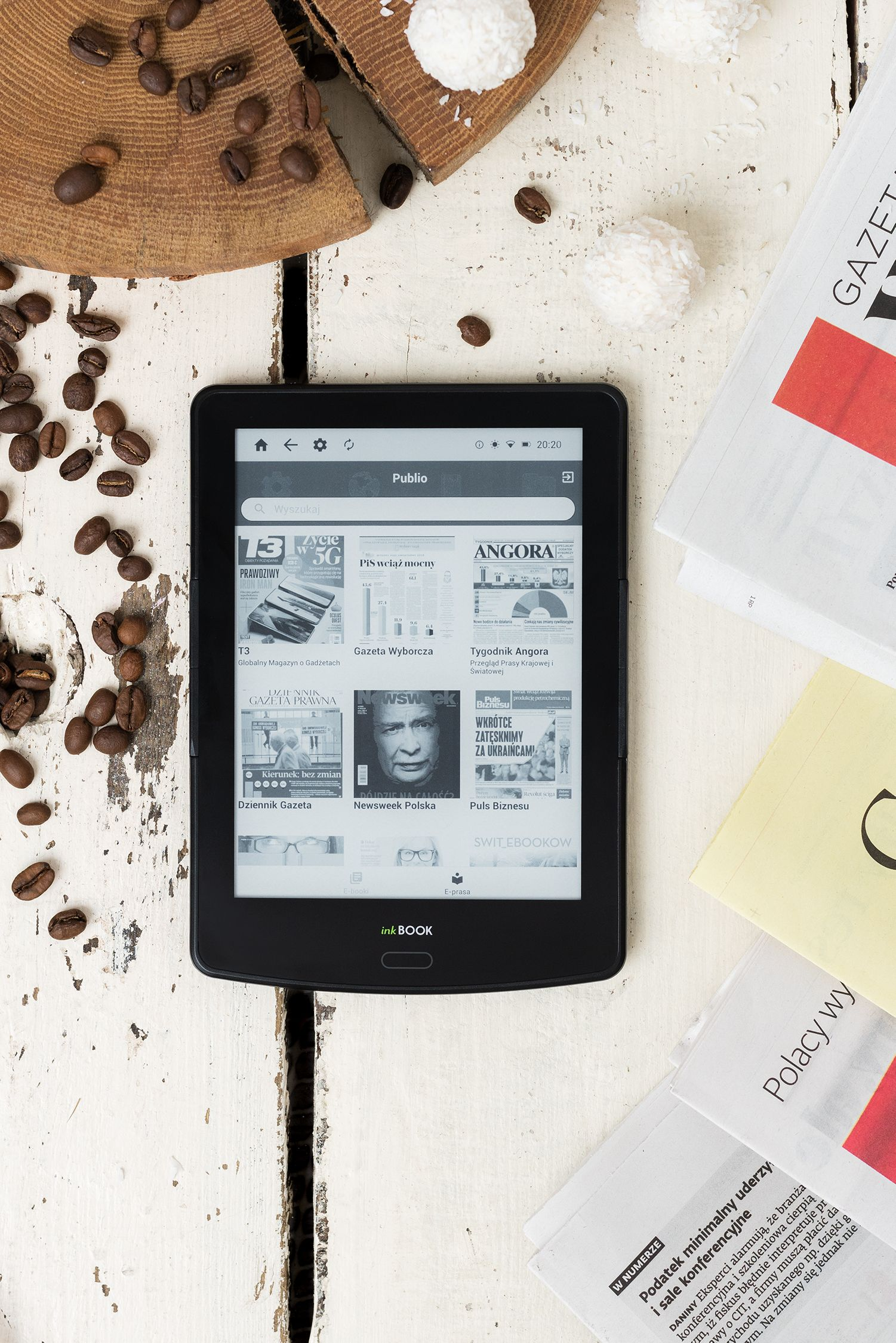 Aplikacja Publio na czytniki inkBook