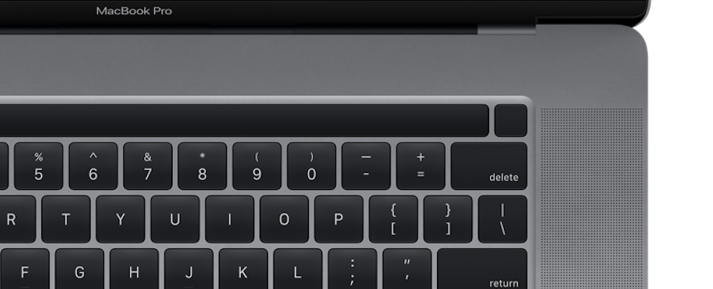 macbook pro 16 2019 touchbar