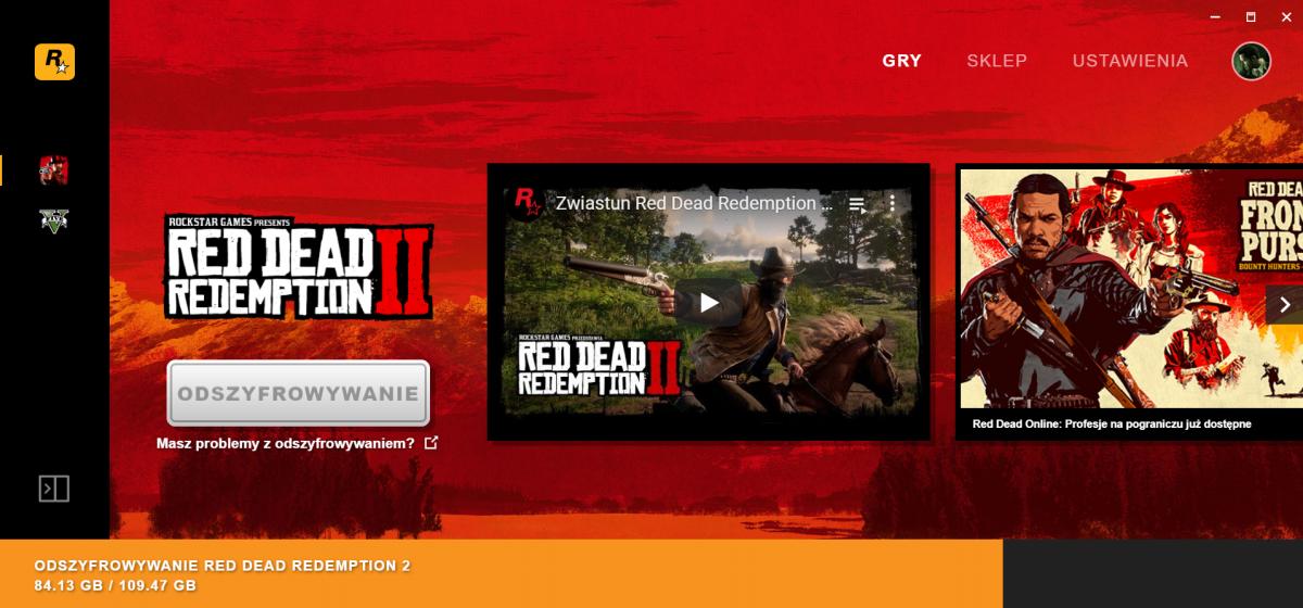 Red Dead Redemption 2 na PC nie działa