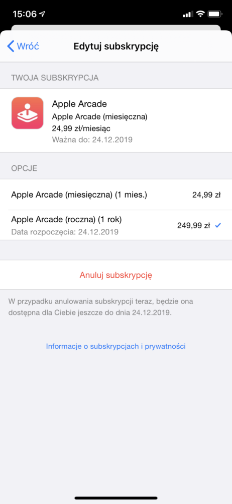 Teraz za Apple Arcade można zapłacić 249,99 zł za rok z góry
