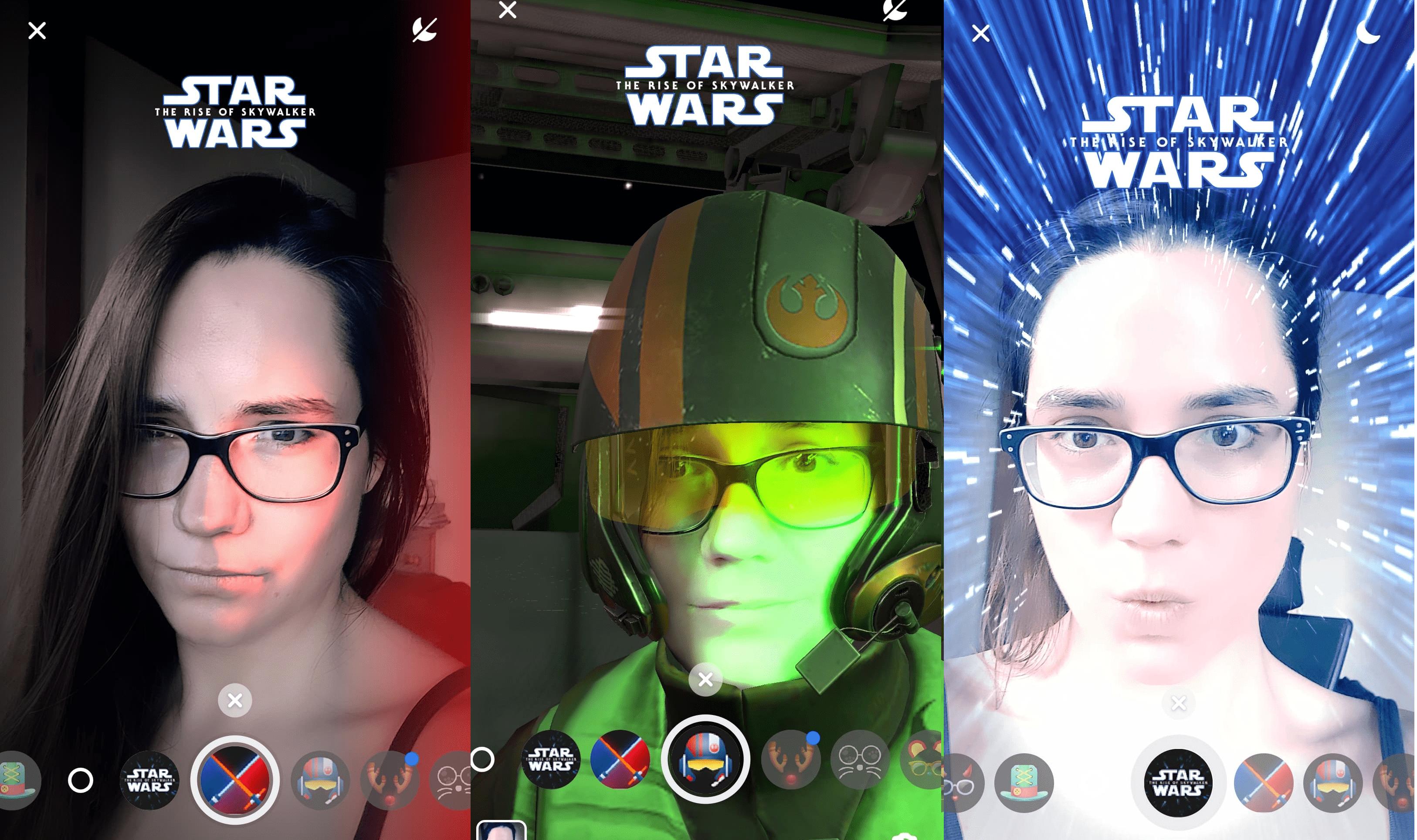 Gwiezdne wojny AR na Facebooku