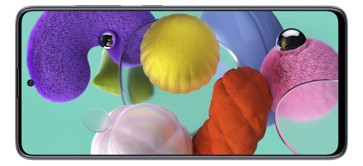 Oto Samsung Galaxy A71 i Galaxy A51 z dziurami w ekranach