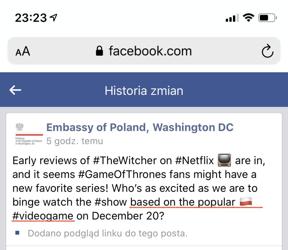 wiedźmin ambasada sapkowski serial the witcher netflix gry cd projekt red