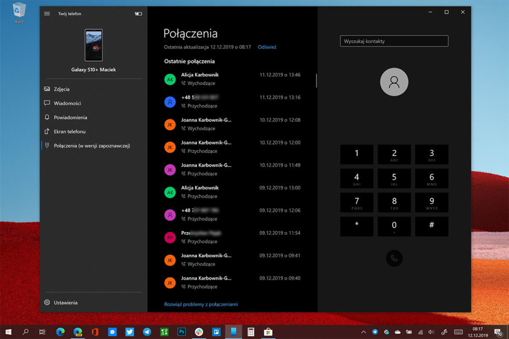 windows 10 jak zadzwonić