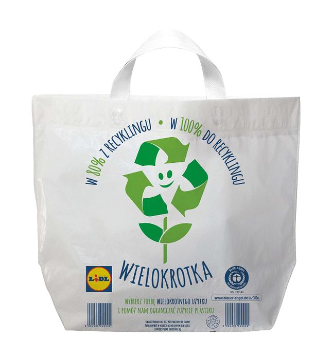 Torba wielokrotka w Lidlu zaoszczędzi 2000 ton plastiku rocznie.