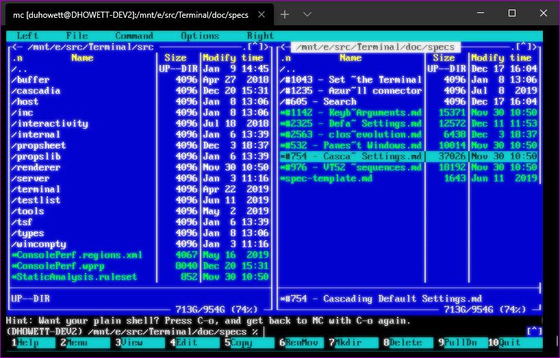 windows terminal crt