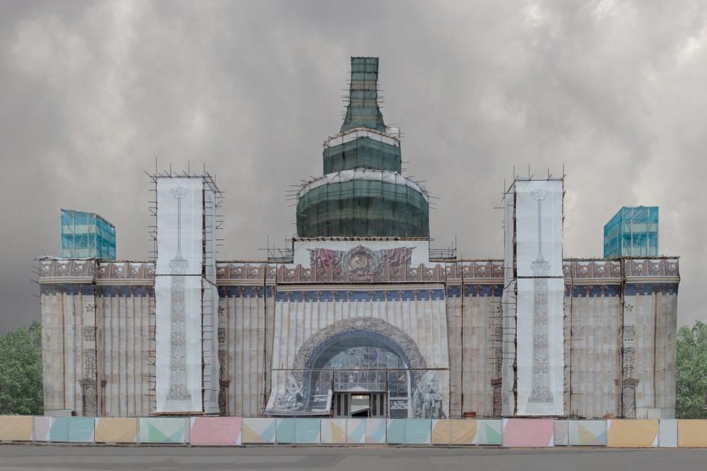 """""""W przeszłości, udawane fasady były rzadkimi i tymczasowymi interwencjami w przestrzeni miejskiej, ale dziś stały się częścią krajobrazu miejskiego"""". Fot.: Pegova Olya"""