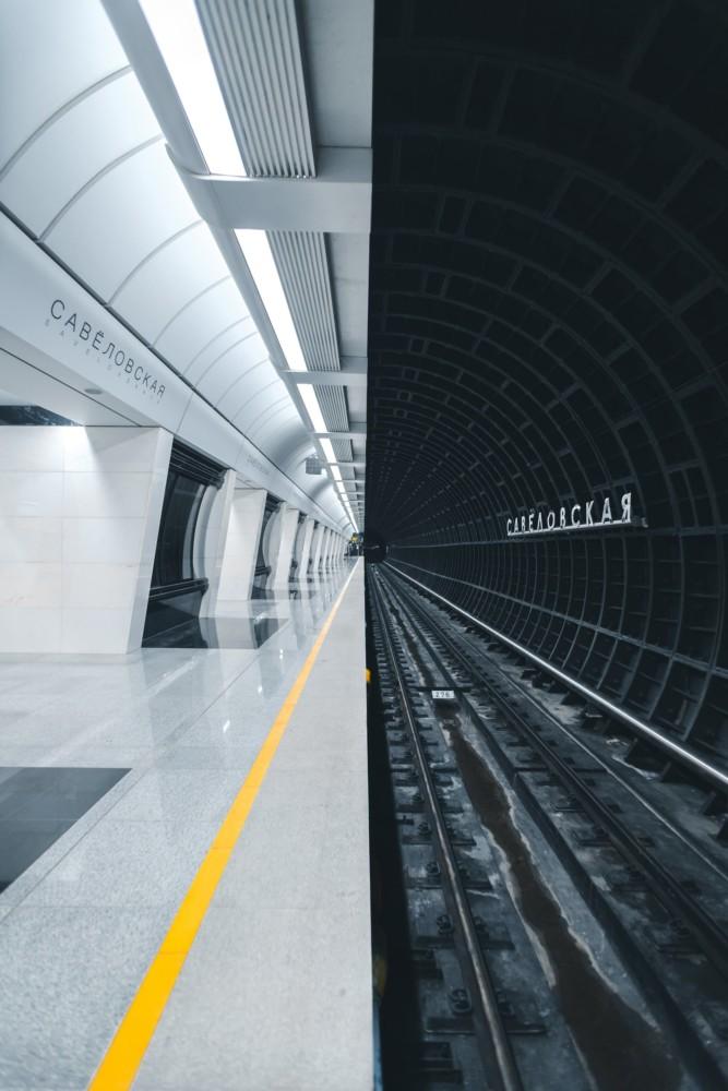 """""""Nowa stacja metra w Moskwie jest wykonana w futurystycznym stylu"""". Fot. Aleksandr Bormotyn"""