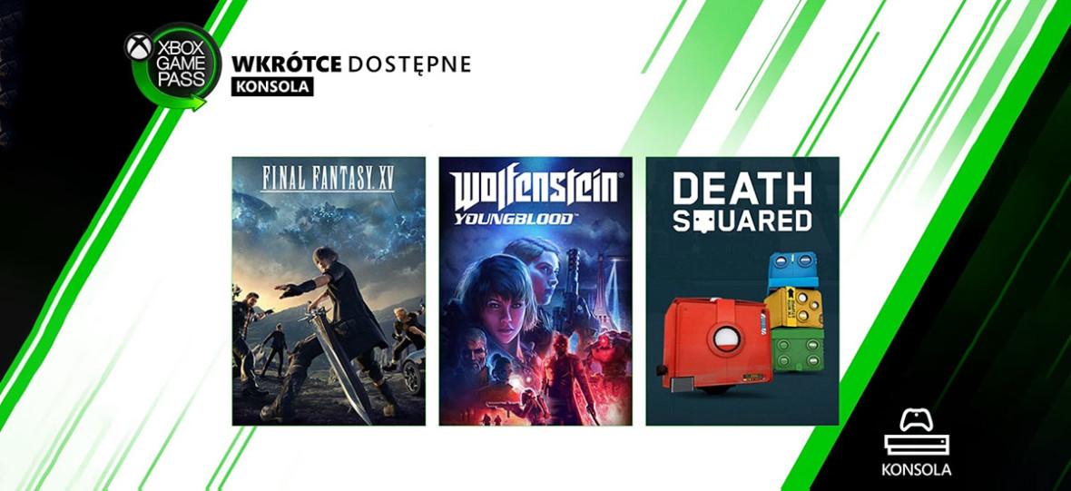 Najnowsze odsłony gier Final Fantasy i Wolfenstein trafiają do Xbox Game Pass