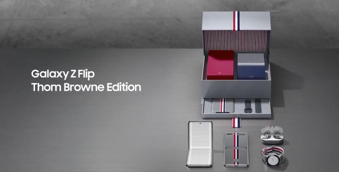 Oto Galaxy Z Flip Thom Browne Edition. Prawdopodobnie najdroższa odmiana nowego składanego Samsunga