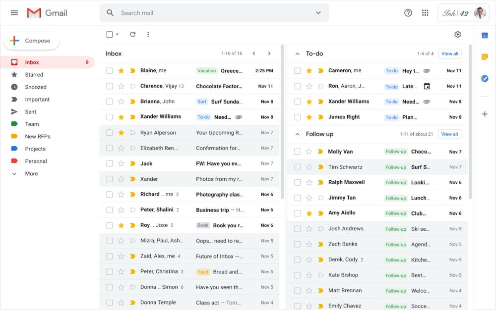 gmail wiele skrzynek odbiorczych