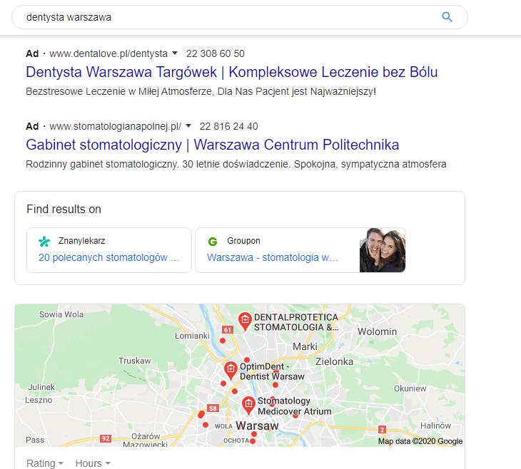 Wyszukiwarka Google Find results on