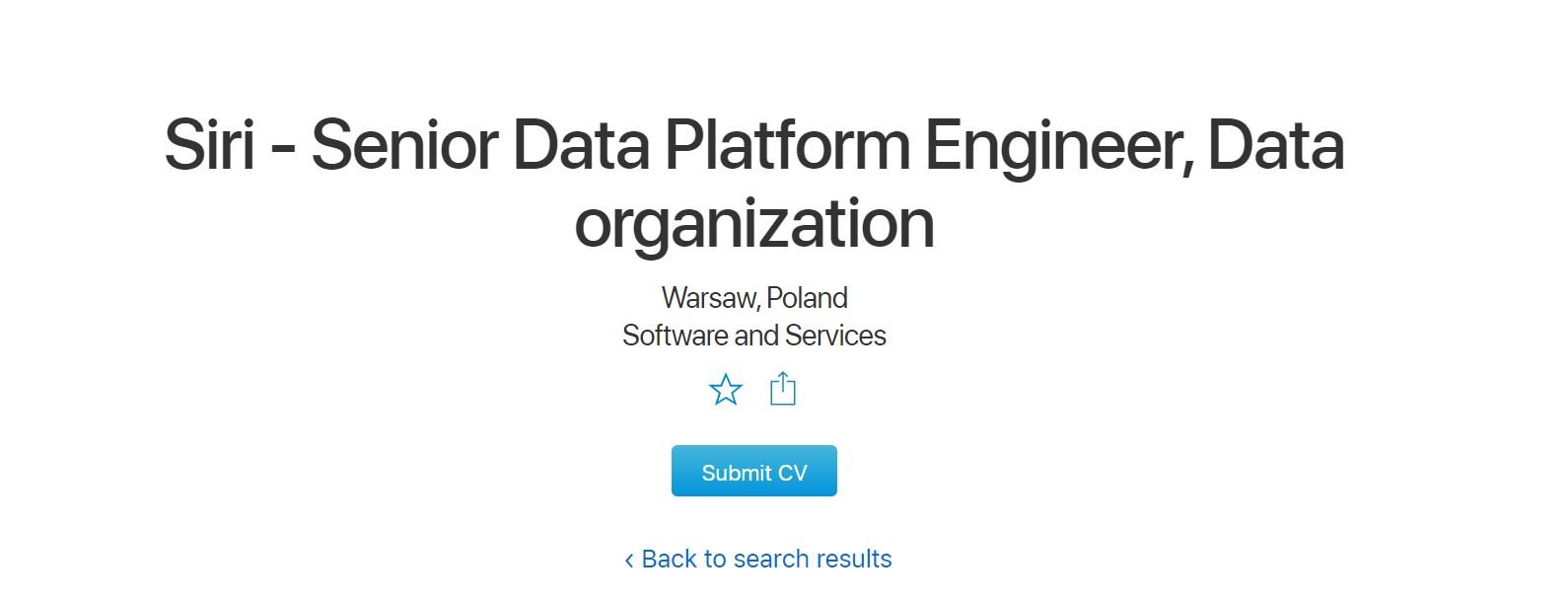 Siri po polsku - Apple szuka szefa zespołu