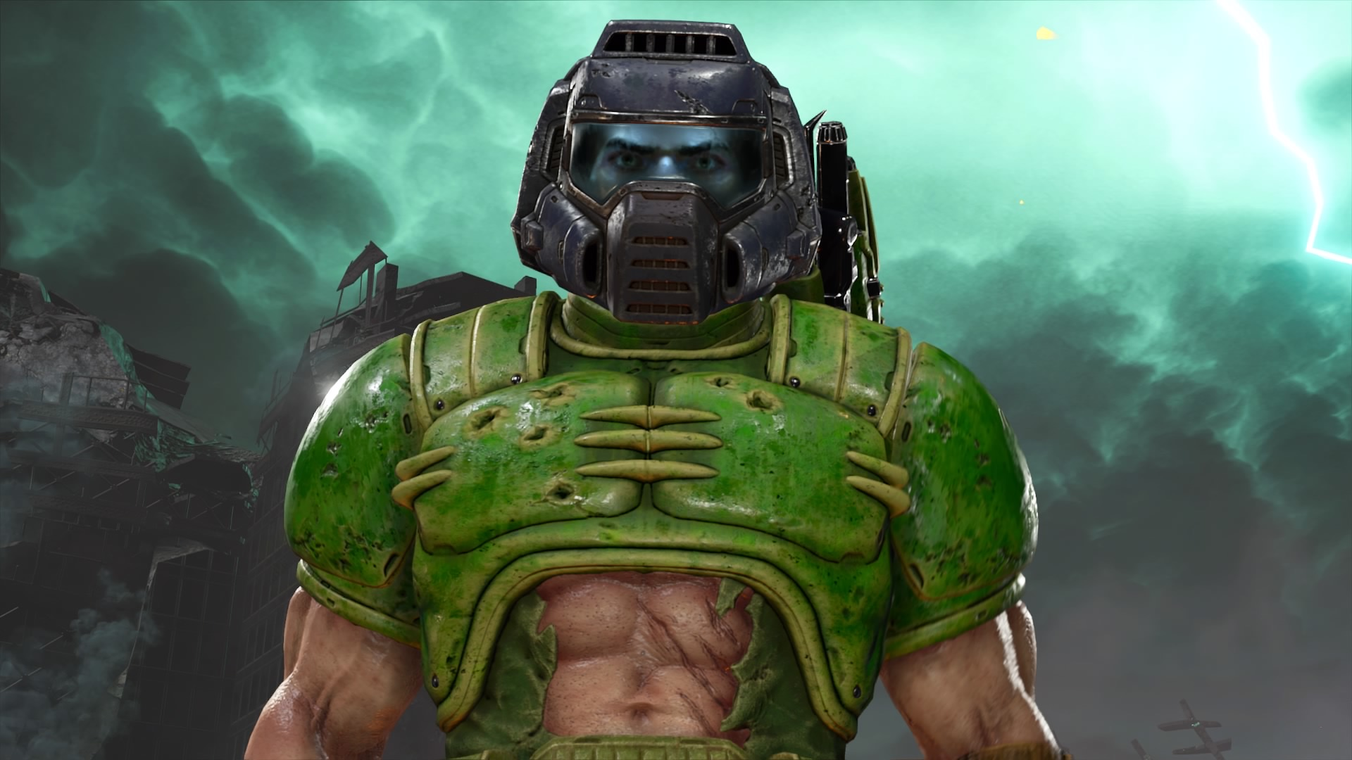 What Does Doomguy Keep On The Desktop And Where Does The Fallout