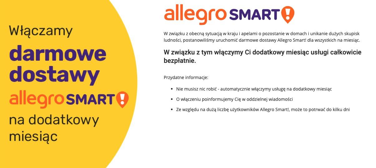 Darmowe dostawy na Allegro. To plan wsparcia Polaków w związku z koronawirlsem