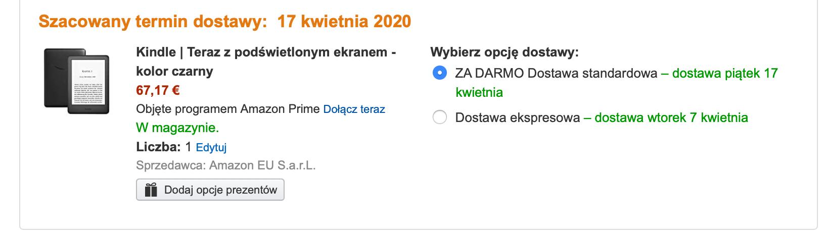 amazon kindle promocja rabat wiosna 2020 2