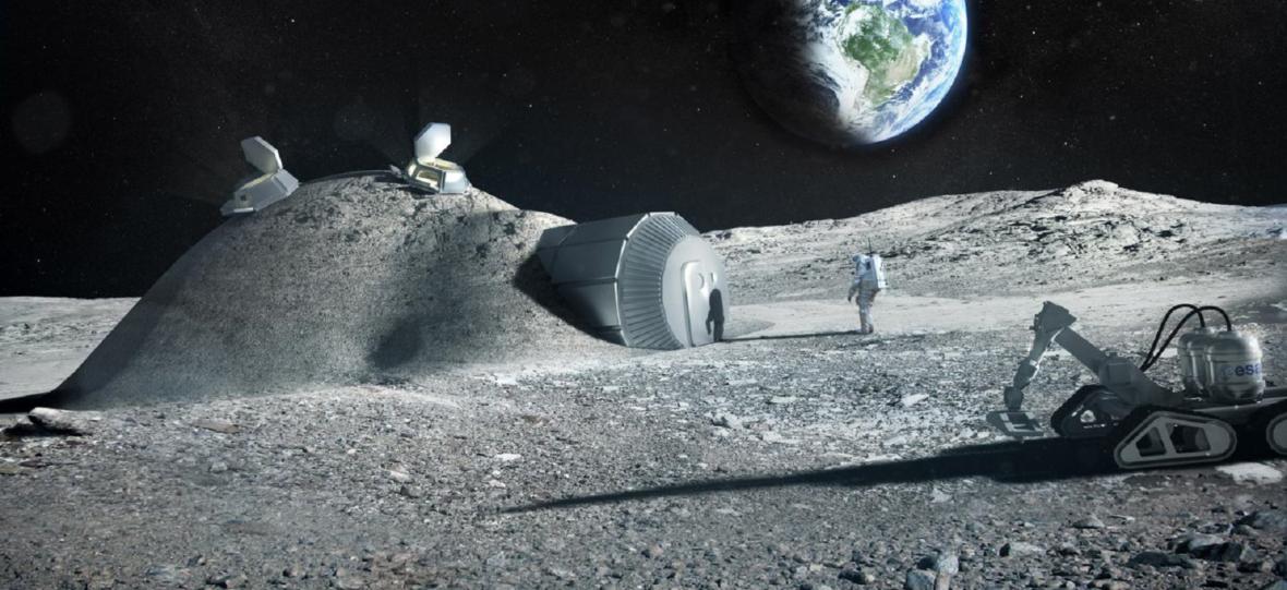 Astronauci mogą być fabrykami materiałów budowlanych na Księżycu