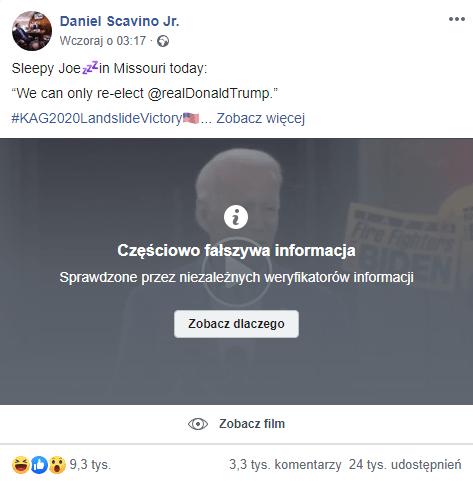 Facebook moderacja fact checking
