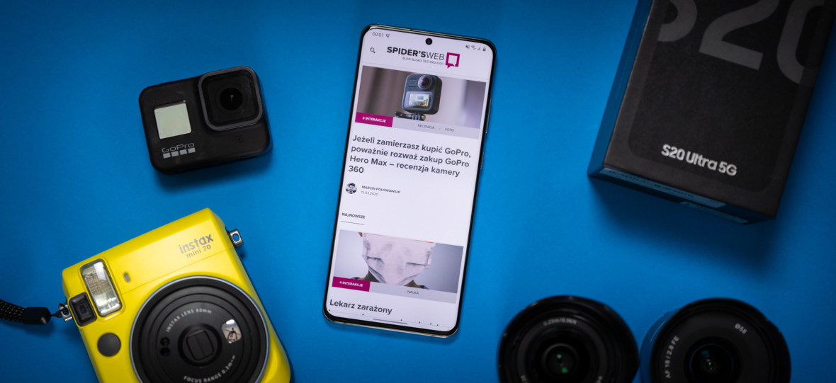 Samsung Galaxy S20 Ultra 5G – naj w każdym calu. Recenzja Spider's Web