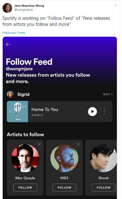 Spotify Fellow Feed