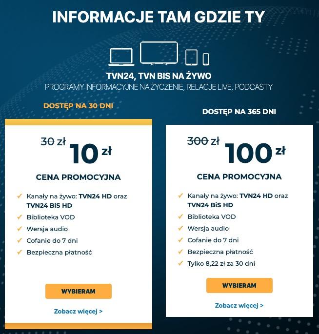 tvn24 hd dostępny w player.pl