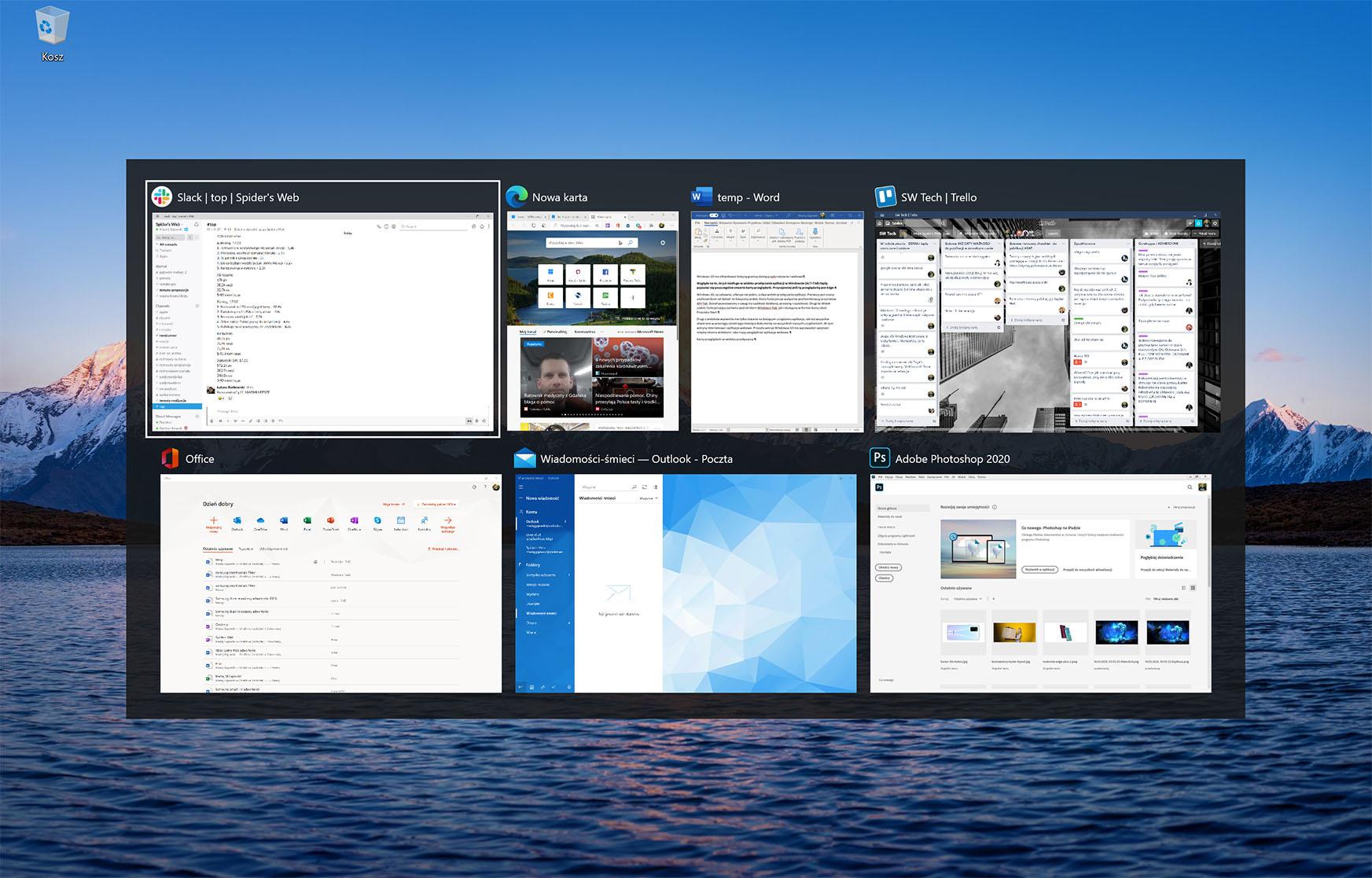 windows 10 karty przeglądarki alt-tab