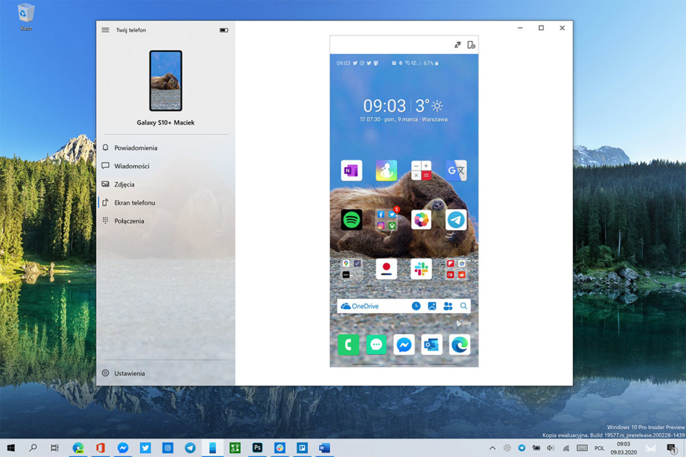 windows 10 twój telefon tapeta