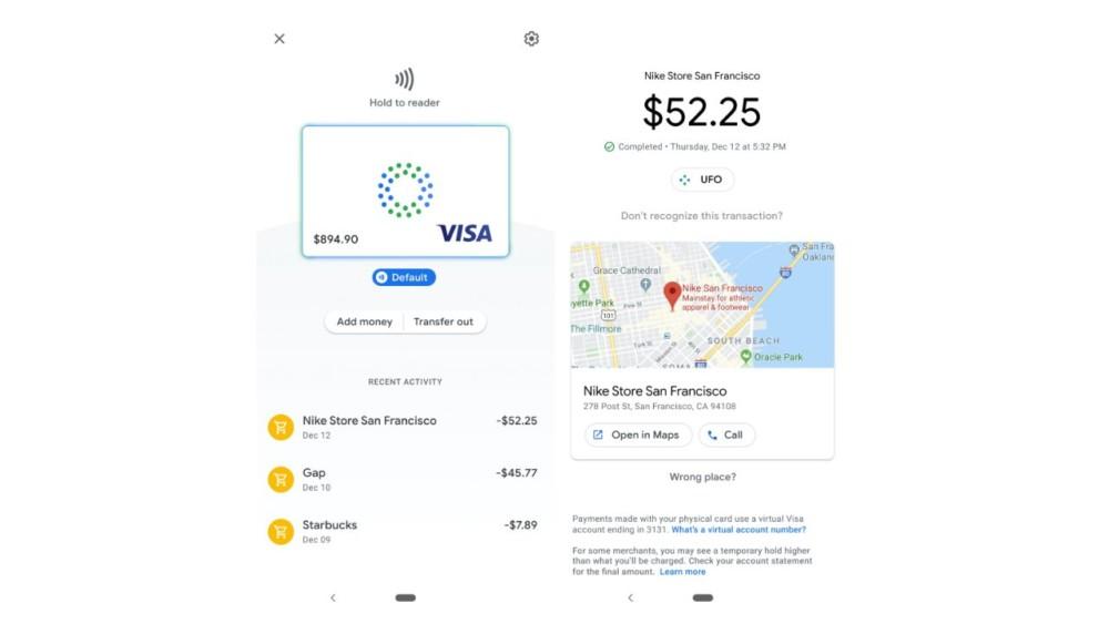karta płatnicza google