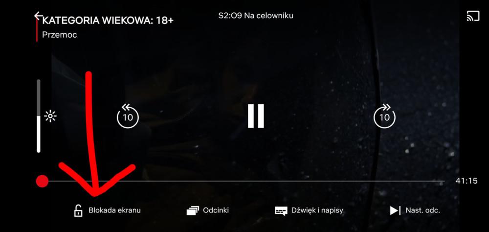 netflix blokada ekranu