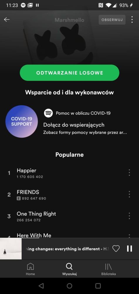 Spotify wsparcie od i dla artystów