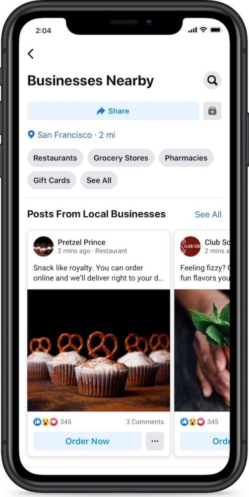 Firmy blisko ciebie na Facebooku