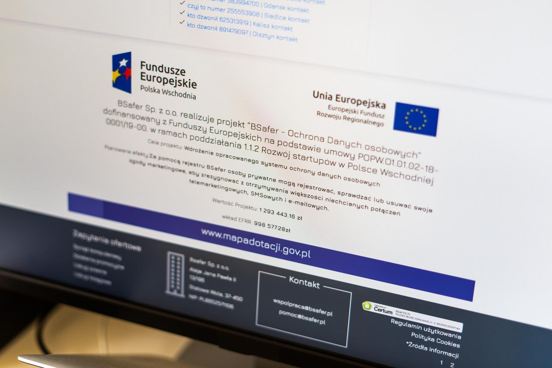 bsafer - dane osobowe - fundusze unijne