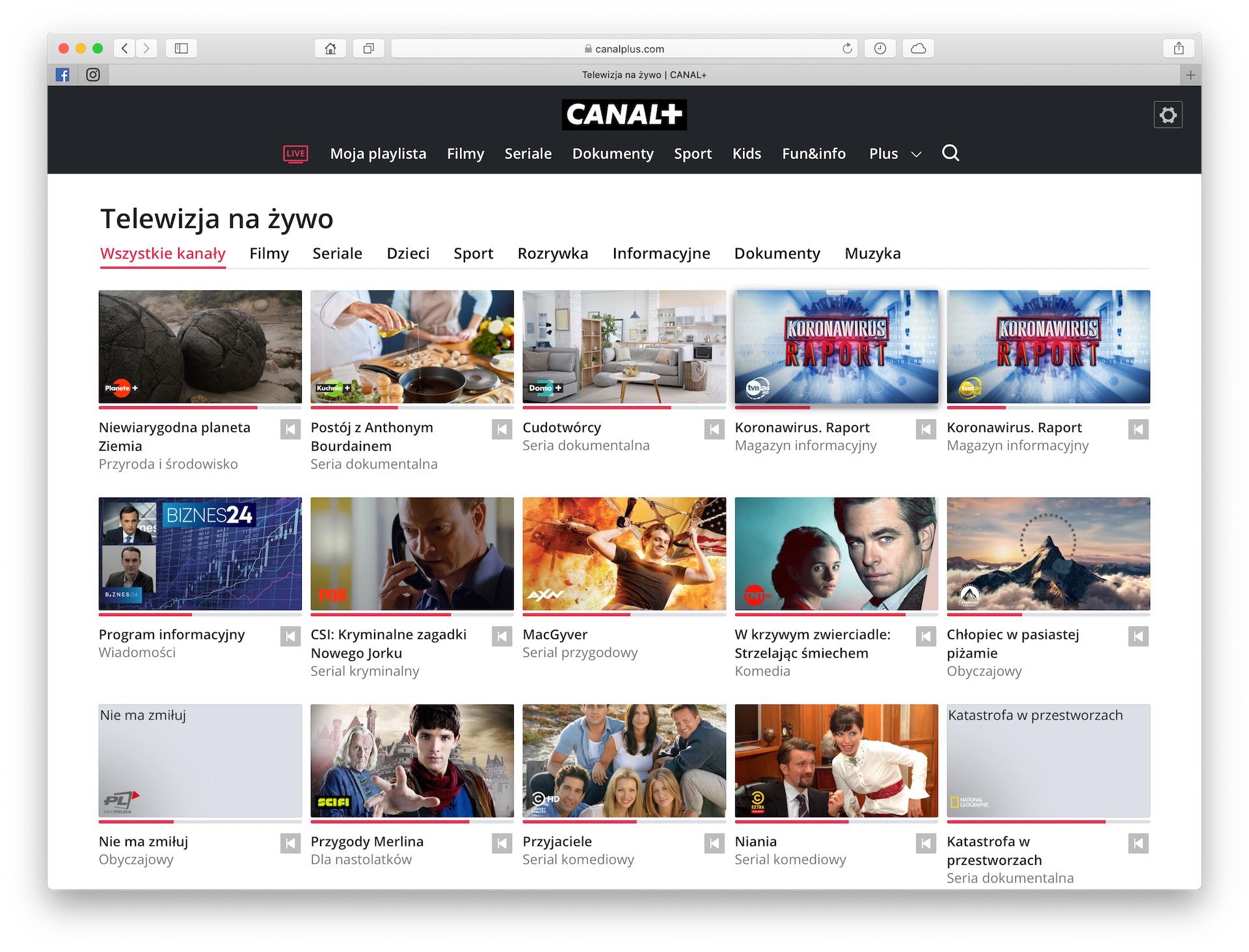 canal plus telewizja przez internet