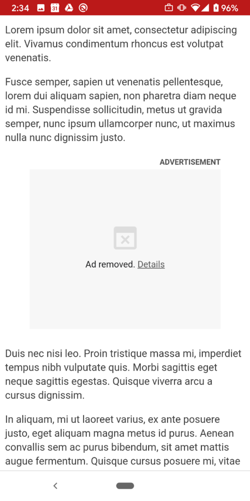 chrome blokuje reklamy