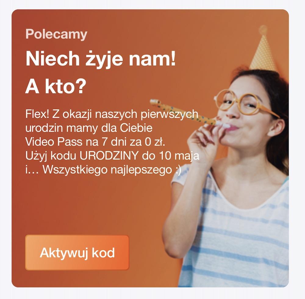 orange flex promocja video pass za darmo