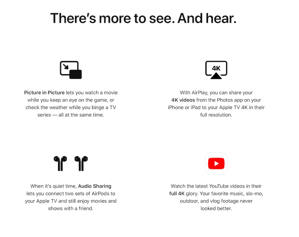 apple tv tvOS wwdc 2020 youtube 4K