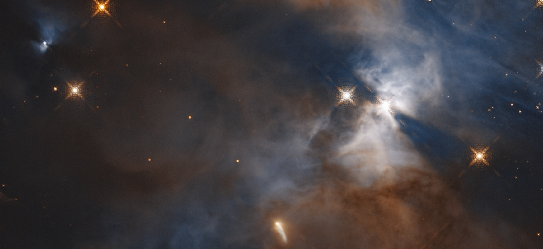 Hubble observed the flutter of the bat s sharp shadow