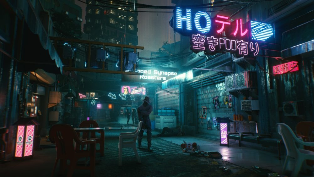 cyberpunk 2077 gameplay screenshot 1 blood in the rain
