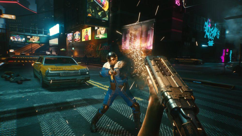 cyberpunk 2077 gameplay screenshot 14 party at night