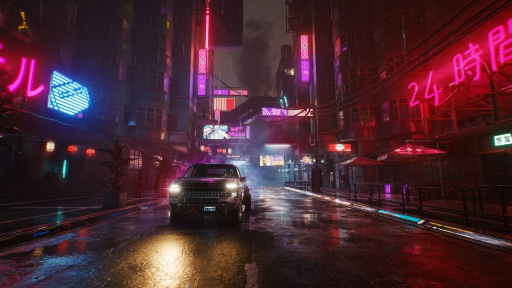 cyberpunk 2077 gameplay screenshot 7 its good to be in town