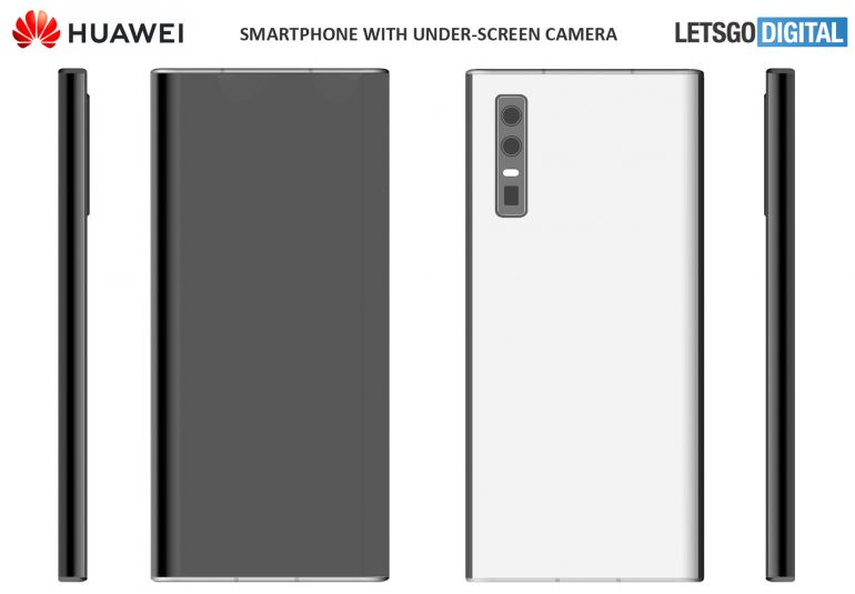 Tak będą wyglądać smartfony Huawei z kamerką do selfie pod ekranem