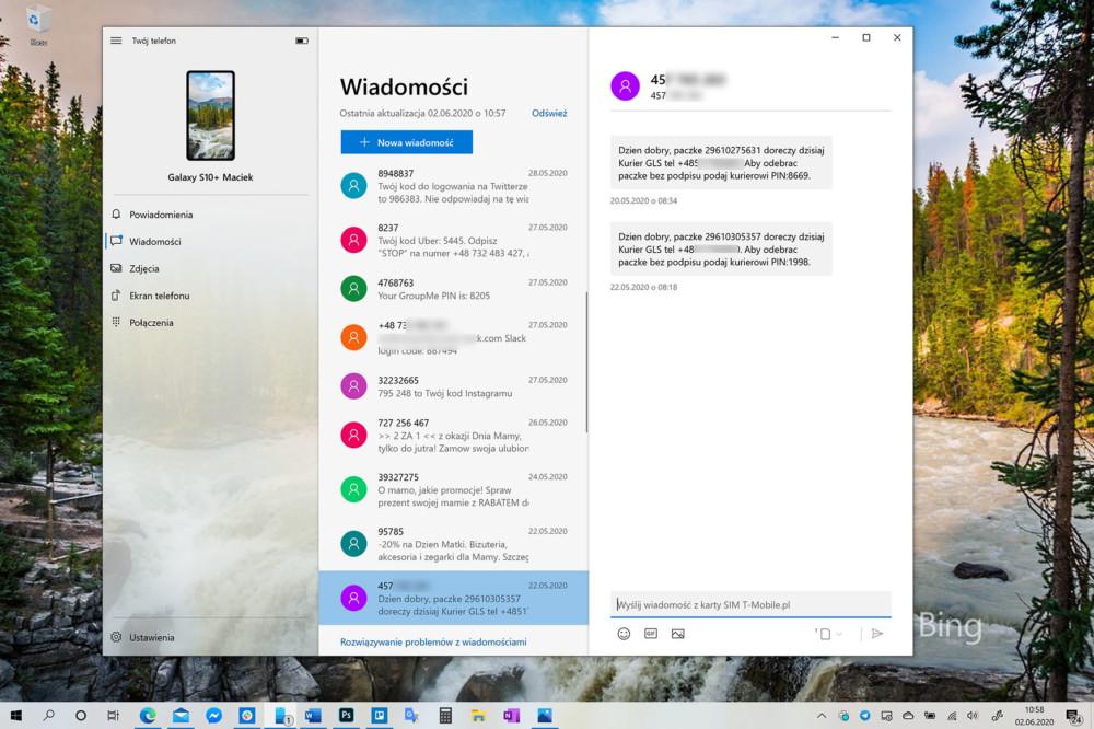 windows 10 okienko do sms-ów