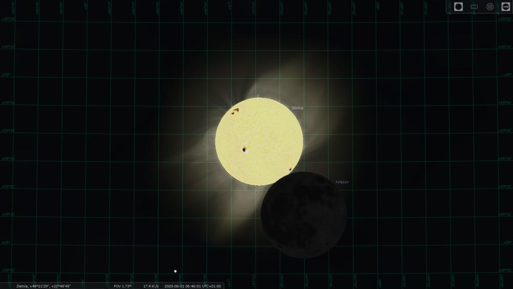obrączkowe zaćmienie Słońca 2020