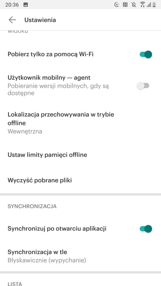 android transfer danych 3 ustawienia synchronizacji